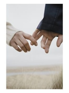 Holding hands by Robert Flake